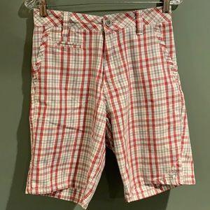 Zoo York red grey white shorts men size 28